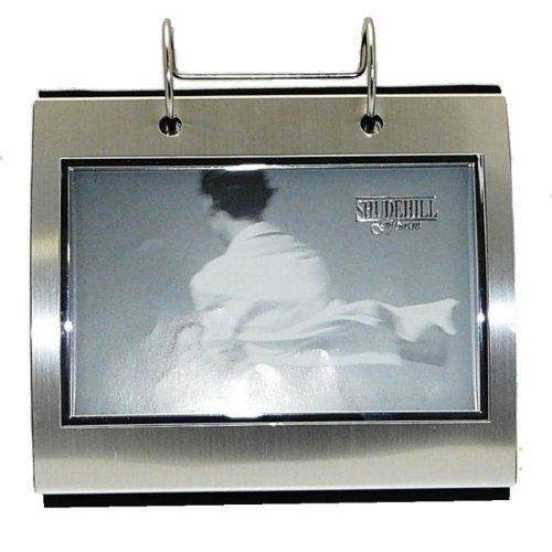 Silver Colour Free Standing Flip Album Holds 50 Of 6 X 4 Inch Photos
